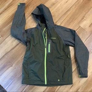 Columbia omniheat rain jacket water resistant larg